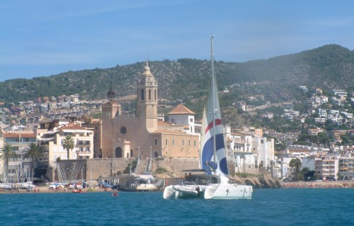 Sitges Church from The Lel Close